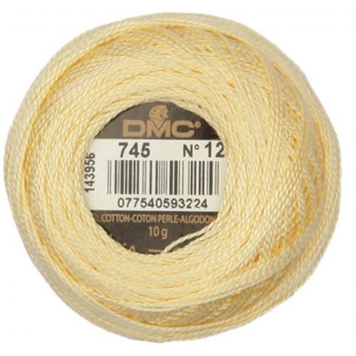 Dmc Koton Perle Yumak 10 Gr Sarı No:12 - 745