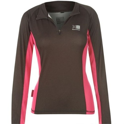 Karrimor Long Sleeve Zip Tech T-Shirt Bayan 444151 / Black - Xl