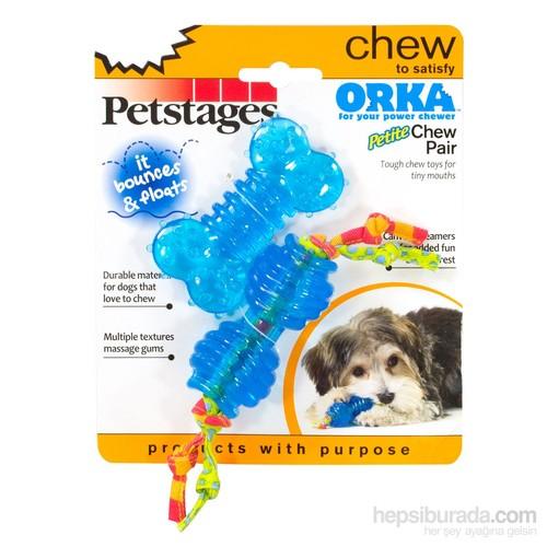 Petstages Orka Chew Pair İkili (Patentli Orka Malzemesi, Sağlığa Zararsız, Köpek Oyuncağı)