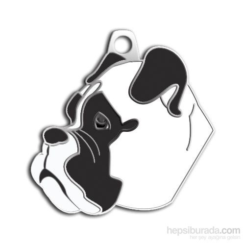 Dalis Pet Tag - Boxer Köpek Künyesi - Beyaz (İsimlik)