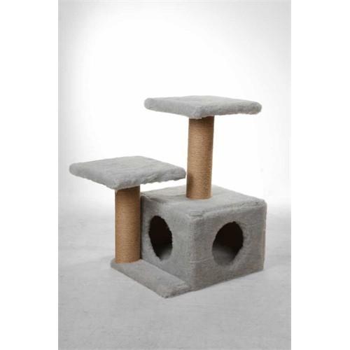 Leo's Kedi Yuvası Ve Tırmalama Tahtası Gri 45 X 35 X 65 Cm