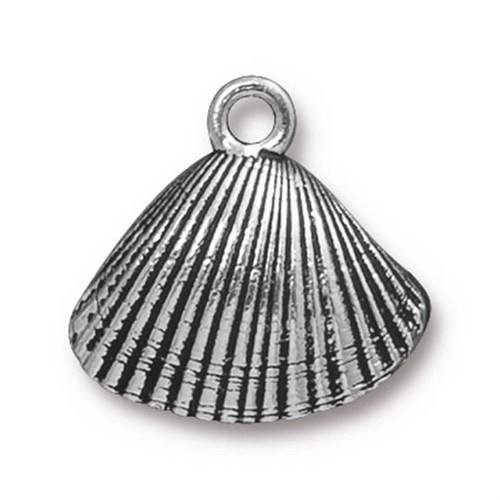 Tierra Cast 1 Adet 18X18.5 Mm Gümüş Rengi Deniz Kabuğu Takı Aksesuarı - 94-2448-12
