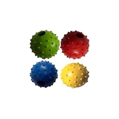 Happy Pet Studded Ball With Bell Display Kauçuk Zilli Köpek Oyuncağı