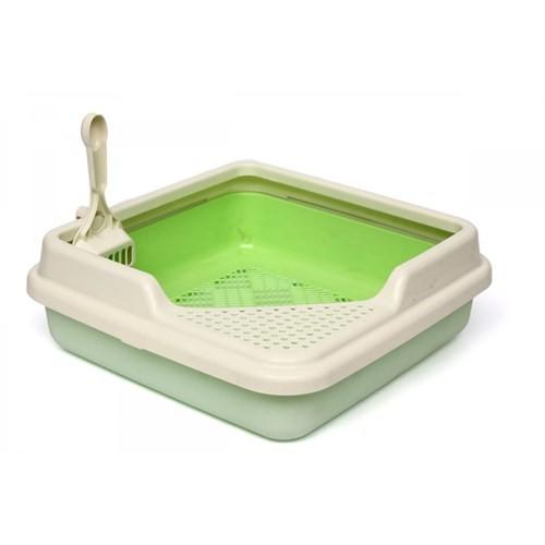 Köşe Lux Kedi Tuvaleti Fıstık Yeşili