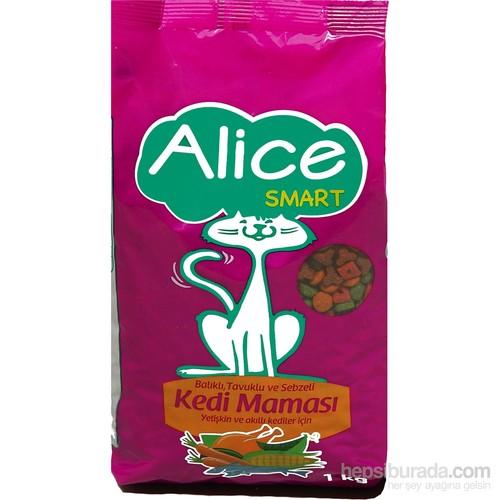 Alice Smart Tavuklu & Balıklı & Sebzeli Kedi Maması 1 Kg