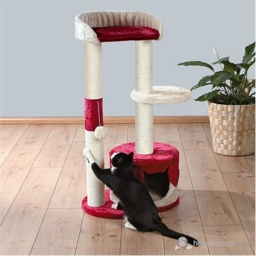 Trixie kedi tırmalama, 100 cm, bej/kırmızı