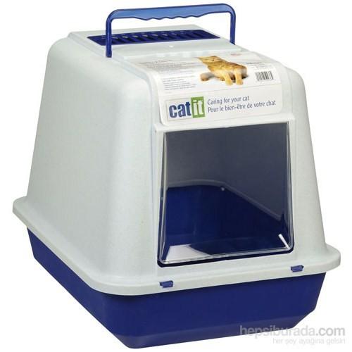Catit Karbon Filtreli Kapalı Tuvalet Kabı Mavi / Beyaz