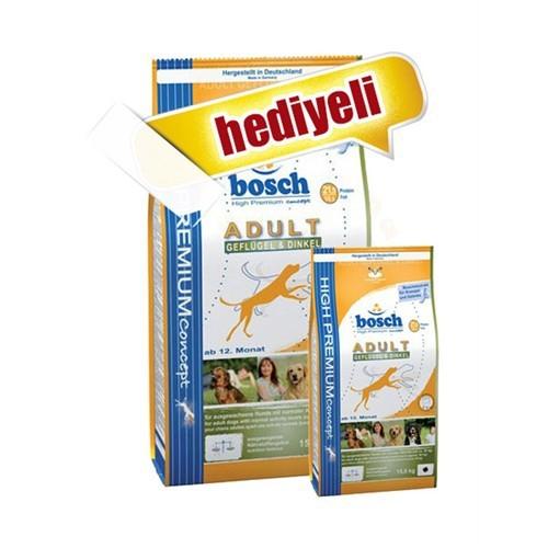 Bosch Geflügel Kümes Hayvanlı Köpek Maması 15 Kg+3 Kg (Toplam 18 Kg)