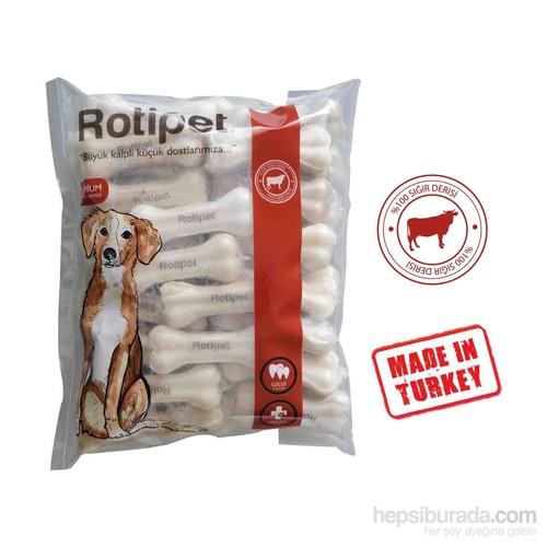 Rotipet 7,5 Cm. Pres Kemik Beyaz (50'Li Paket)