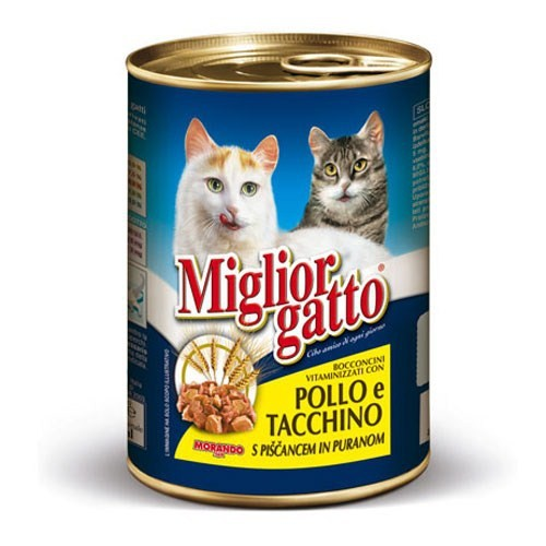 Miglior Gatto Tavuklu Hindili Konserve 405 Gr 20+4 Hediyeli