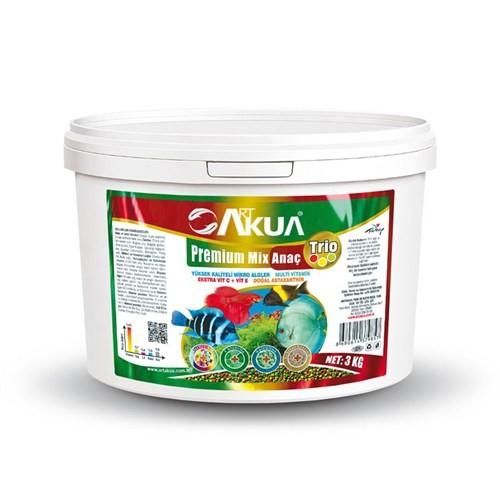 Art Akua Premium Mix Anaç Trio 3000 Gr.(1,7Mm) Etçil Ve Otçul Karışık Akvaryum İçin.