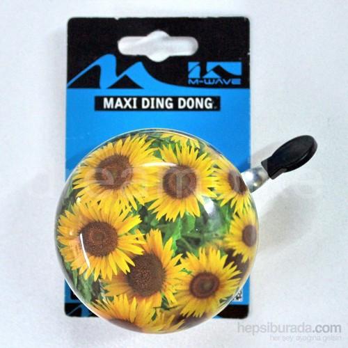 M-Wave 420308 Büyük Ding Dong Bisiklet Zili (8Cm Çap)