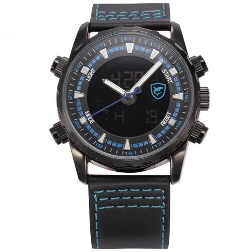 Shark Sh134 Siyah Mavi Şık Spor Erkek Kol Saati