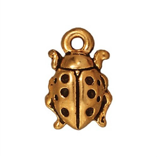 Tierra Cast 1 Adet 12.75X8.5 Mm Altın Rengi Uğur Böceği Takı Aksesuarı - 94-2124-26