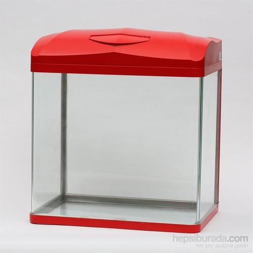 Quık Akvaryum 30Lt Kırmızı