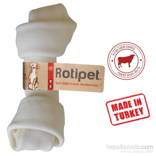 Rotipet 15,5 Cm Düğüm Kemik Beyaz