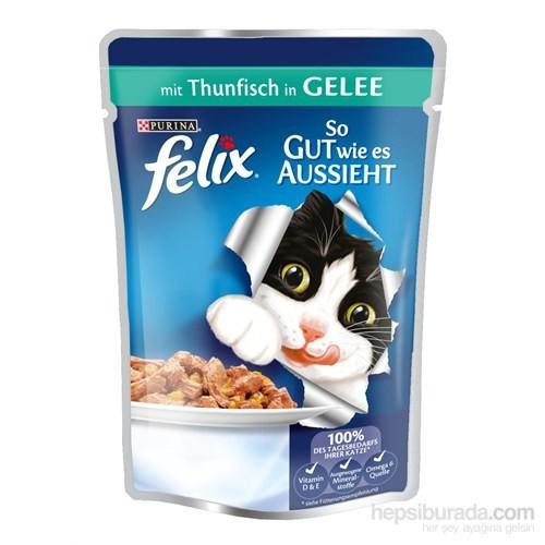 Felix Yetişkin Kediler İçin Ton Balıklı Yaş Kedi Maması Pouch 100 Gr
