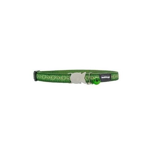Reddingo Cosmos Desenli Yeşil Kedi Boyun Tasması 12Mm