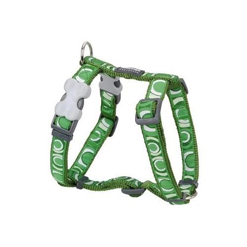 Reddingo Circadelic Desenli Yeşil Xl Köpek Göğüs Tasması 25 Mm
