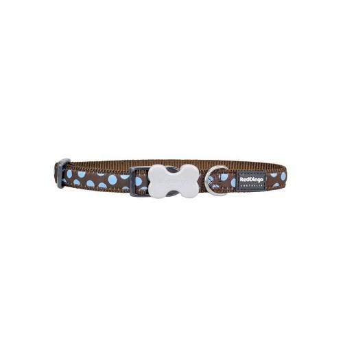 Reddingo Kahverengi Üzerine Mavi Benekli Köpek Boyun Tasması 12 Mm