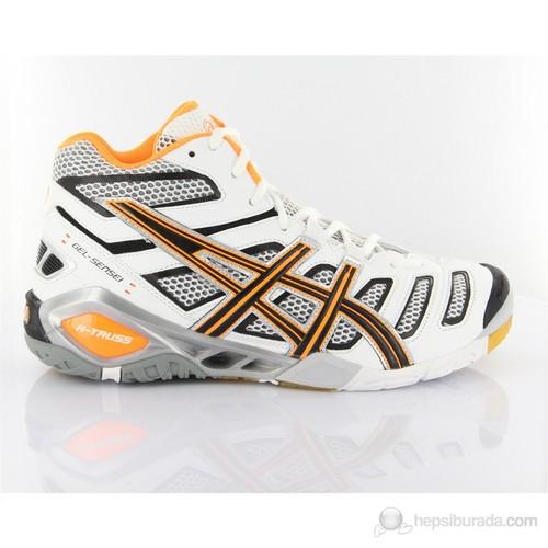 Asics B202y 199 Gelsensei 4 Mt White Black Neon Orange Spor Ayakkabı