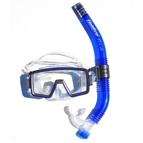 Unidive Silikon Maske/Şnorkel Set Combo 1 - Mavi