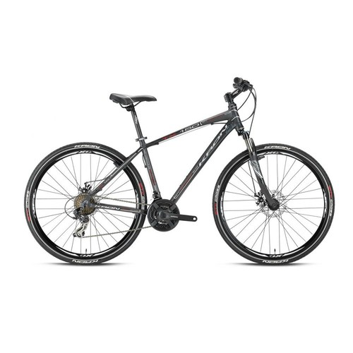 "Kron Tx 150 28 Jant City 20"" 21 Vites Fren Siyah - Kırmızı - Beyaz Şehir Bisikleti"