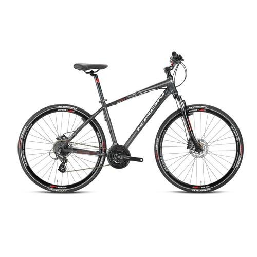 """Kron Tx 300 28 Jant City 18"""" 24 Vites Fren Siyah - Gri Şehir Bisikleti"""