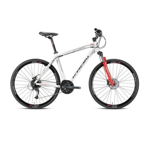 "Kron Tx 500 28 Jant City 16"" 27 Vites Fren Beyaz - Gri - Kırmızı Şehir Bisikleti"