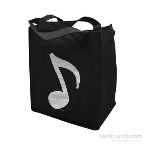 8 Lik Notalı Çanta - Siyah