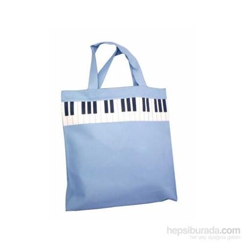 Tuşeli Mavi Çanta
