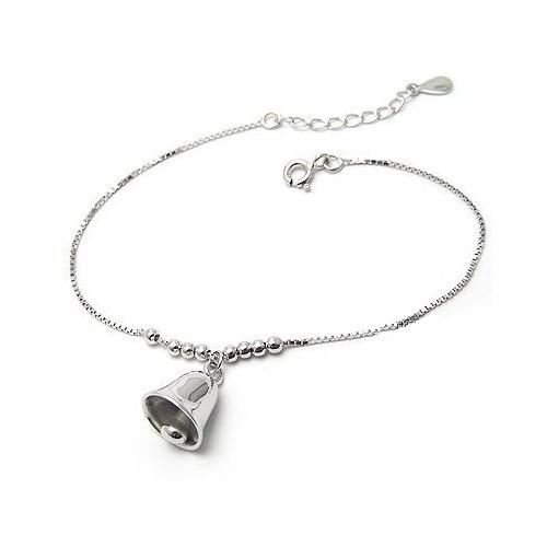 Betico Fashion Gümüş Gümüş Çan Bileklik