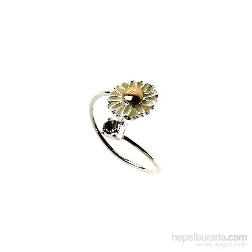 Chiccy Kristal Taşlı Çiçek Yüzük