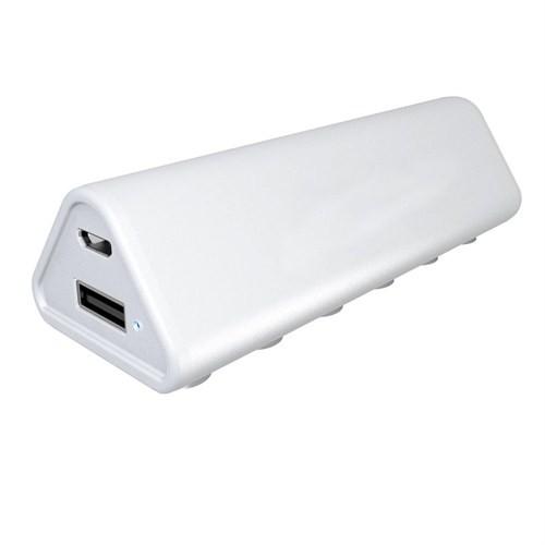 Case 4U 2600 mAh Taşınabilir Şarj Cihazı Beyaz *(Cep Telefonu, Tablet, MP3, Fotoğraf Makinesi)