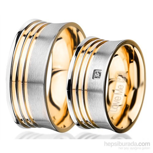 Berk Kuyumculuk Çelik Alyans LM-015G (Çift Fiyatı)