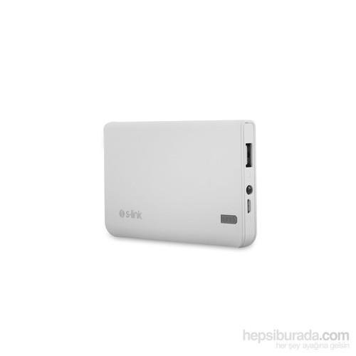 S-link IP-666 6000mAh 2000MA Powerbank Beyaz Taşınabilir Pil Şarj Cihazı