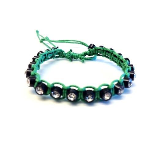 Betico Fashion Yeşil Makrame Bileklik