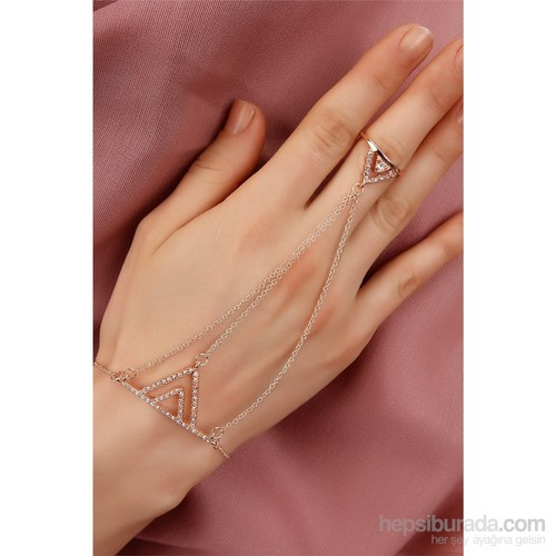 Morvizyon Rose Zincirli Kristal Taş Tasarımlı Bayan Şahmeran Modeli