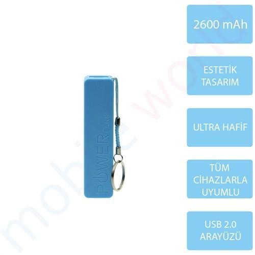 Mobile Word 2600 mAh Taşınabilir Şarj Cihazı Mavi - 2113