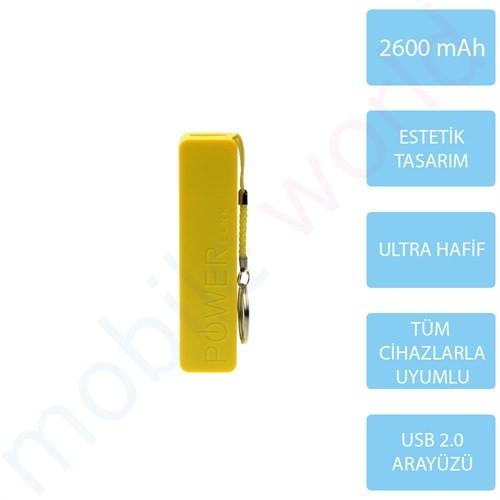 Mobile Word 2600 mAh Taşınabilir Şarj Cihazı Sarı - 2115