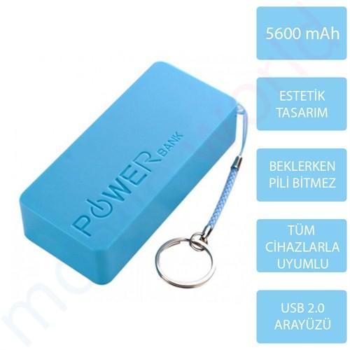 Mobile World Ora Series 5600 mAh Taşınabilir Şarj Cihazı Mavi - 2123