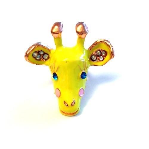 Betico Fashion Sarı Zürafa Yüzük