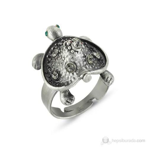 Lochers Özel Taş İşlemeli Kaplumbağa Yüzük