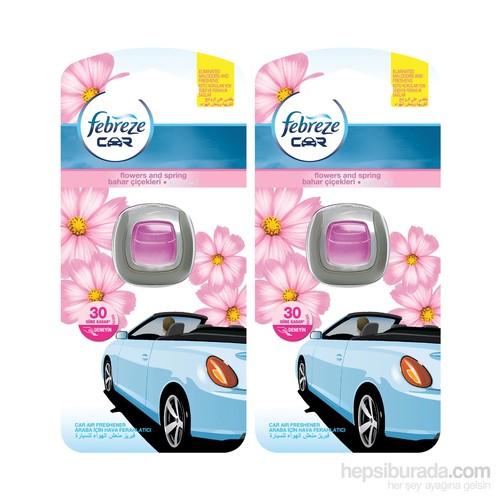 Febreze Hava Ferahlatıcı Araba Kokusu Bahar Çiçekleri 2'li Paket