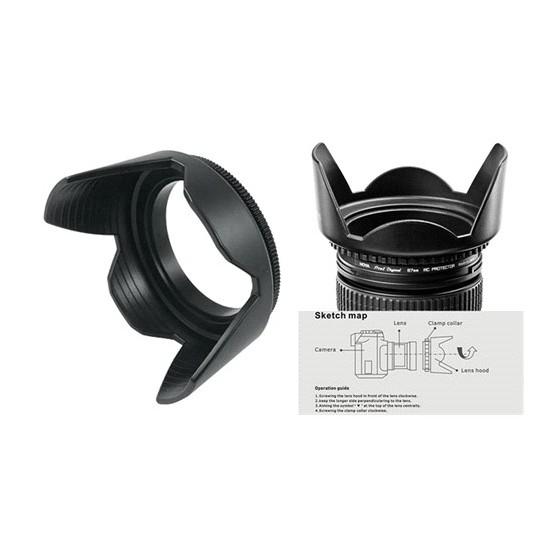 Canon 18-55Mm Lens İçin Yaprak Tipi Parasoley Flower Hood