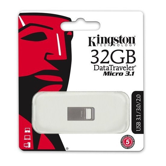 Kingston 32GB DTMICRO 3.1/3.0 Metal USB Bellek DTMC3/32GB