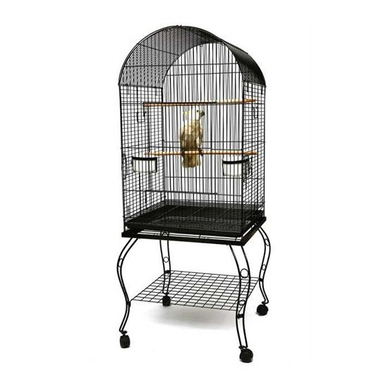 Ayaklı Papağan Kafesi Gri P922