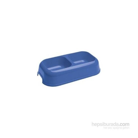Ferplast Party 16 Plastik İkili 0,7 Litre Mama Ve Su Kabı Mavi