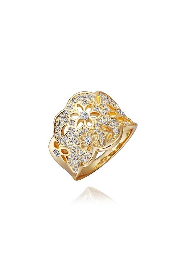 Byzinci Gold Flower Ring 18 Carats