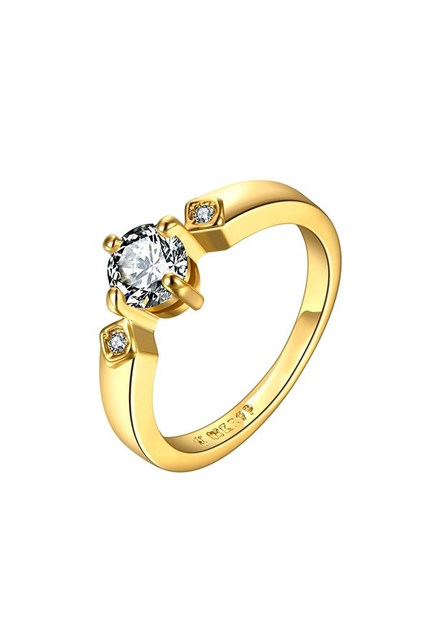 Byzinci Yellow Gold Women's Ring 18 Carat